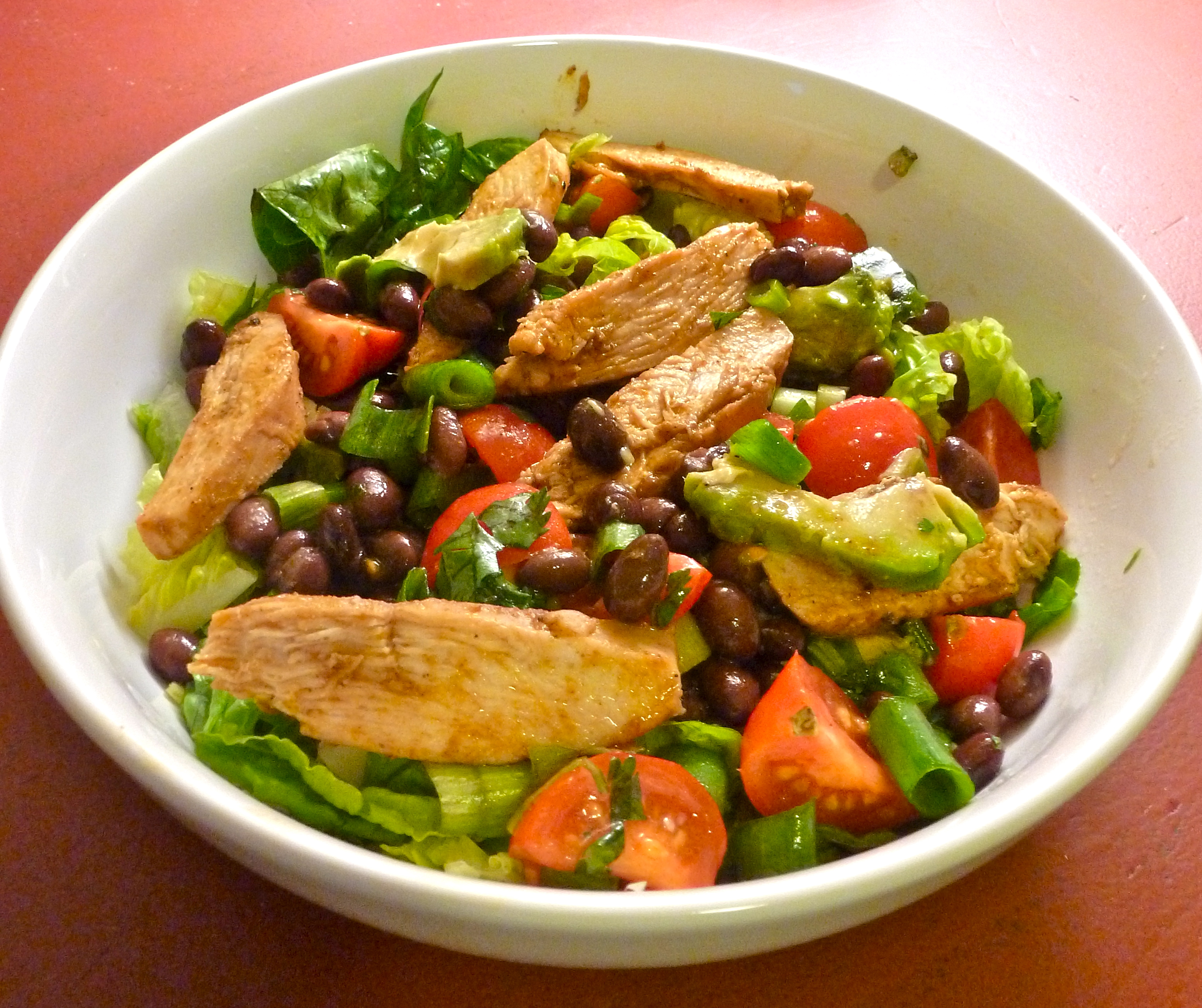 Southwestern Grilled Chicken Salad With Tomato And Black Bean Salsa ...